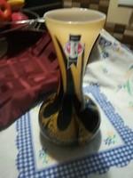 Muránói stílusú jelzett Olasz üveg váza