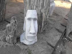 Moai Husvét szigeteki fej 1db 40cm Minimál vagy  Japán kerti Fagyálló műkő szobor