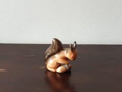 Bodrogkeresztúri keramia nipp mókus állat figura
