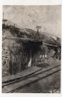 Katonák, bunker, kis nyomtávú vasút, 6x9 cm