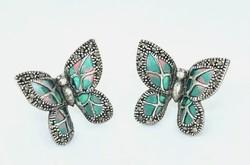 Pillangós  ékszer/ sterling ezüst füli 925  - új