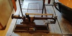 Öntöttvas vasbolti mérleg, kitűnő állapotban, loft dekoráció