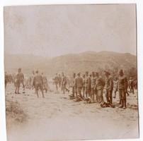 Katonák, kiképzés, gyakorlat 6x6 cm