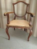 Antik karfás szék keret