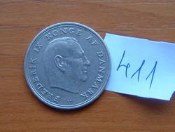 DÁNIA 1 KORONA 1965 C-S King Frederick IX 75% réz, 25% nikkel #411