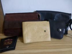 Retro,vintage bőr tárcák és táskák egyben