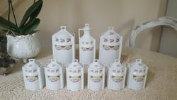 Kézzel készített,Cseh porcelán fűszertartók