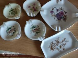 Hollóházi porcelán hamutartók egyben