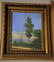 Ismeretlen festő (20.sz.közepe) : Táj magányos fával