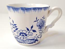 Antik Sarreguemines porcelán fajansz csésze az 1800-as évekből