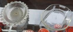 Öreg üveg tál - SIMAX Csehszlovák hűálló tál - antik