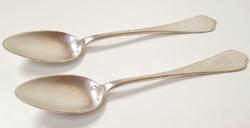 Antik ezüst nagyméretű teáskanalak /2db