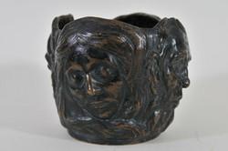 Antik bronz szecessziós váza az 1900as évekből