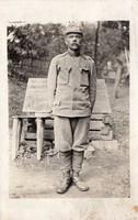 Katonakép 1916 szép egyenruha, lábszárvédő, cipő, Marinefelsdpost Pola
