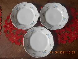 Zsolnay porcelán, kék barackvirág mintás lapos tányér