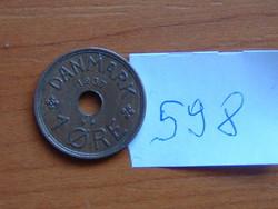 DÁNIA 1 ŐRE 1937 N-GJ 90-70% Réz, 10-30% Cink #598