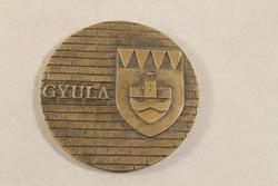 Szignált bronz plakett 759
