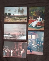 Munkácsy Mihály festményei képeslapokon