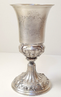 Antique silver chalice from the 1800s