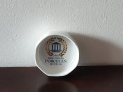 Hollóházi porcelán tálka hamutál exluzív múzeum szuvenír