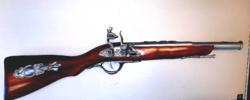 SZÉP állapotú csappantyús 58 centi hosszú puska