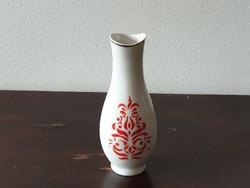 Hollóházi porcelán váza kalocsai népies mintával retro szuvenír