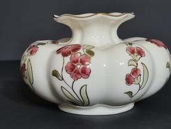 Zsolnay Virágmintás gerezdes váza