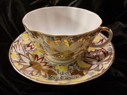 Lomonosov /Lomonoszov orosz porcelán teás csésze szett kézi festésű 2 db LFZ orosz porcelán