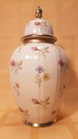 26 cm magas fedeles porcelán váza, Bavaria Elfenbein Porzellan