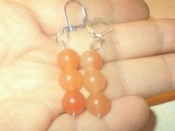 Narancs Korall Gyöngy Fülbevaló