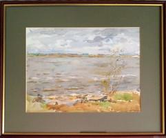 Festmény, Orosz vízparti tájkép