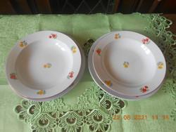 Zsolnay tányérok, 2 db lapos és 2 db mély egybe