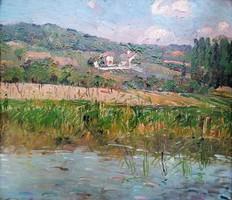 Déry Béla( 1870 - 1932 ) Balatongyörök 1924