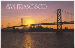 USA  / SAN FRANCISCO / képeslap bélyeggel