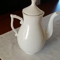 Herendi festetlen, fehér kávés kanna