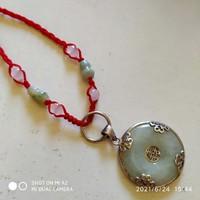 Kínai jade nyaklánc 925