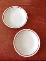 Zsolnay porcelán piros szélű mélytányér 20 cm