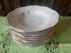 Zsolnay apróvirág mintás mély tányér