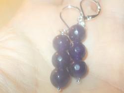 Lapisz Lazuli Gyöngy Fülbevaló
