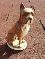 Zsolnay boxer kutya figura