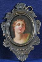 18.századi miniatűr barokk portré