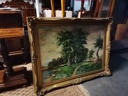 Olaj vászon festmény keretben