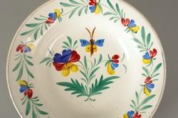 Körmöcbánya tányér népi virág pillangó