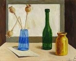 1F121 Magyar festő : Asztali csendélet