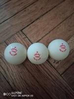 IDEAL 1983 három darab csehszlovák pingpong labda