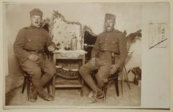 Régi képeslap katona fotó