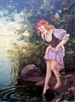 Illencz Lipót( 1882 - 1950 ) Lány a parton