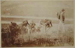 Régi képeslap katona hegymenet