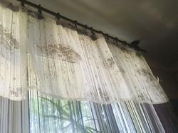 Vintage Vitrázs függöny nagyobb méret gyönyörű