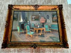 Gyönyörű Antik Barokk pasztell Enteriőr